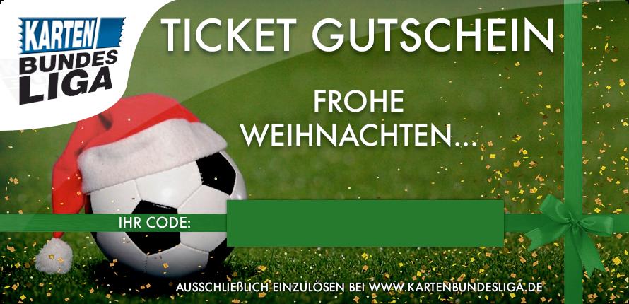 """Ticket Gutschein """" Frohe Weihnachten"""""""